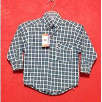 Camisa Casual Cuadros Azul Vaquera Niño Manga Larga Bebe T 2