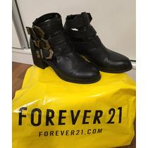 Botas Cortas Forever 21 Negras Cuero (39), No Paruolo, Sark