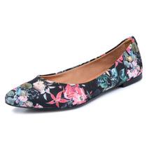 Sapatilha Via Uno Floral Bico Fino Nº39 (calça 38)