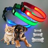 Collar Luz Led Mascotas Perrito Gatitos 28 Cm