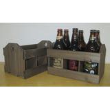 Caixote De Madeira Engradado Para Bebidas/cerveja 6 Gar