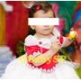 Vestido Fantasia De Festa Infantil Moranguinho Luxo