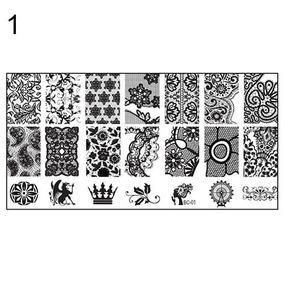 Placa Metálica Pra Carimbo Unha Decorada Artística Nail Art