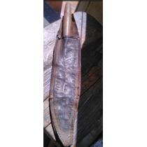 Cuchillo Antiguo Con Su Funda. Charrasca Siglo Xix
