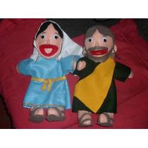 Gcg Lote De Titeres Biblicos Virgen Maria Y San Jose 2 Pzas