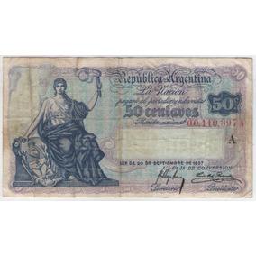 Billete Argentina C 50 1918 Botero 1521 Mb