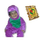 Disfraz De Dinosaurio Barney Nuevo Para Niños Talla 2