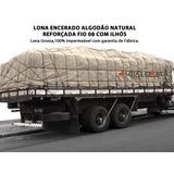 Encerado Lona Algodão Fio 8 Tp Locomotiva Natural Medida 2x2