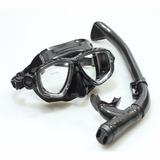 Kit Mascara + Snorkel Com Valvula + Nadadeira Sea Sub