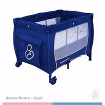 Berço Portátil Desmontável Ninho Azul - Galzerano