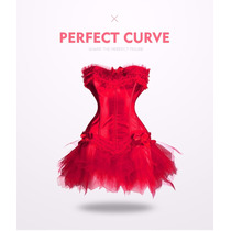 Corset Vestido, Hermoso Y Original. Corset. Rojo.