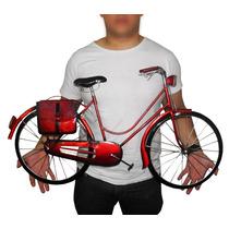 Quadro 3d Bicicleta Para Parede Em Metal Decoracao