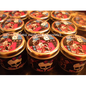 Monster High Latas Personalizadas 7,5 X 8 Por 40u + Central