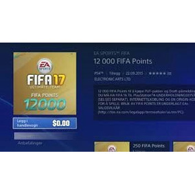 Fifa Points Fifa 17 (xbox One ,ps4)