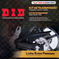 Kit Relacao Did Suzuki Gsrx Srad 750 2014 15 16 C/ Corrente
