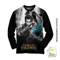 Camisa Manga Longa Lol - League Of Legends - Yasuo