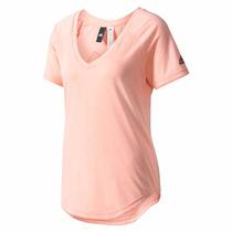 Camiseta Remera Adidas Image De Dama Deportivda Escote V