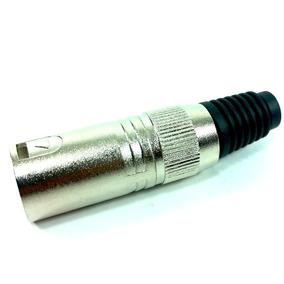 Conector Plug Hjh Xlr Canon Macho Terminais Banhado A Ouro