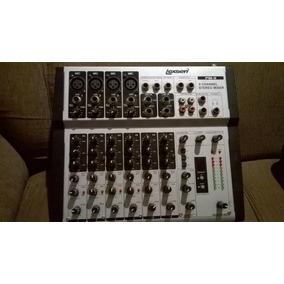 Mesa De Som Lexsen Mp-8 8 Canais (6 Mono 2 Stereo) + Cabos