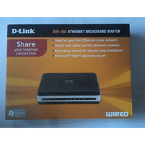 D-link Dir-100 Ethernet Broadband Router Wired