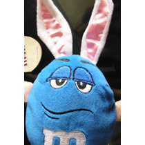 Peluche M & M Azul Edicion Conejo De Pascua Chocolate