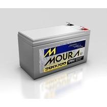 Bateria Moura Estacionária 12v 7ah Vrla Nobreak Alarme Cerca