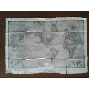 Mapa Mundi Antigo 1944 2º Guerra Mundial Pos-guerra - Raro