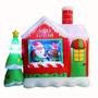 Inflable Taller D Papa Noel Decoracion Navidad Hogar Fiestas