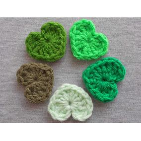 Corazon Plano Crochet Aplique Móvil