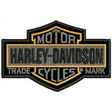 Patch Bordado Termo - Harley Davidson Trade Mark 11x6,7cm