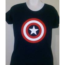 Camiseta Estampada / Batman / Iron Man / Shield / C. América