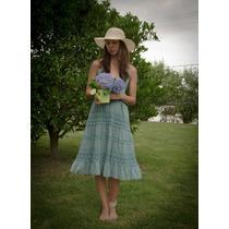 Vestido Celeste Talle Medium
