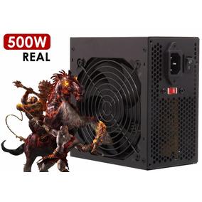 Fonte De Alimentação Atx 500w Reais Gamer Computador Pc Knup