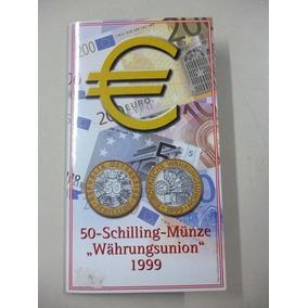 Austria Blister Moneda Bimetalica Bienvenida Al Euro 1999