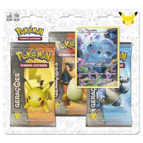 3 Booster Gerações Com Manaphy Em Pt - Pokémon Míticos