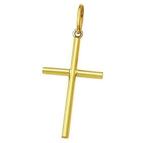 Pingente Masculino Cruz Crucifixo Em Ouro 18k Frete Grátis
