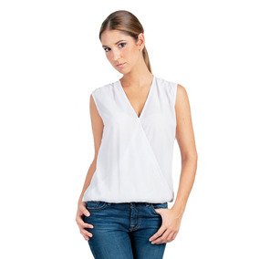 Camisa Blanca Guayabita Antonella Para Damas