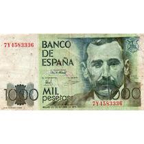 Billete 1000 Pesetas Con Serie España 1972 Pick #158