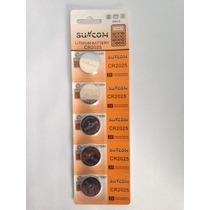 Bateria De Lition Cr 2025 Suncom 100 Un Kit 20 Cartelas