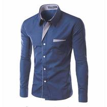Camisa Social Super Slim Fit Masculina | Pronta Entrega