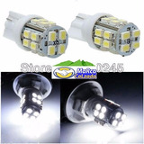 15pcs T10 Led Base De Pellizco 20 Smd Blanco Superbrillante