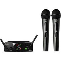 Akg Wms40 Mini Dual Doble Microfono Inalambrico Uhf Sistema