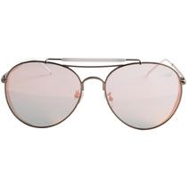 Óculos De Sol Aviador Sawary 3206 - Prata / Lente Espelhada