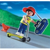 Playmobil #4636 Boy On Scooter He-man Mask Star-wars Tmnt Dc