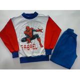Pijama Infantil Malha Personalizado Homem Aranha E Outros
