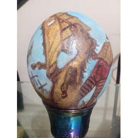 Huevo De Avestruz Pintado A Mano Don Quijote De La Mancha