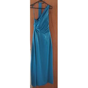 Vestido De Noche Cóctel Color Azul Turquesa