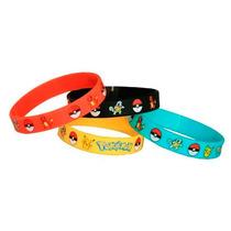 Pulsera Pokemon Pikachu, Charmander, Squirtle 4 Colores