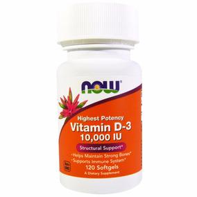Vitamina D3 10,000 Ui 120 Softgels Now Foods Pronta Entrega