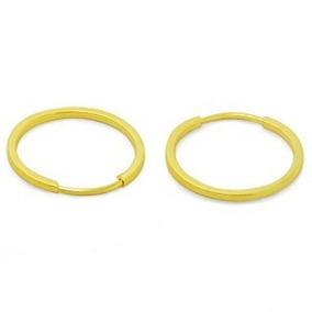 Brincos De Argola Em Ouro 18k 750 Feminino 1.4cm